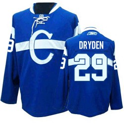 Montreal Canadiens Ken Dryden Official Blue Reebok Authentic Adult Third NHL Hockey Jersey