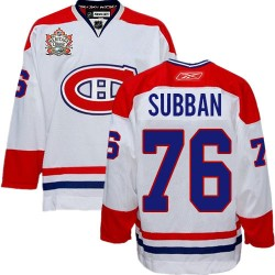 Montreal Canadiens P.K. Subban Official White Reebok Authentic Adult Heritage Classic NHL Hockey Jersey
