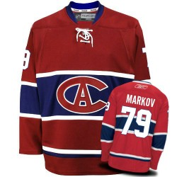 Montreal Canadiens Andrei Markov Official Red Reebok Authentic Adult New CA NHL Hockey Jersey