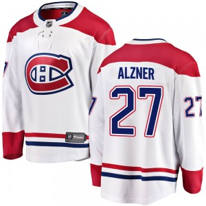 Montreal Canadiens Karl Alzner Official White Fanatics Branded Breakaway Adult ized Away NHL Hockey Jersey