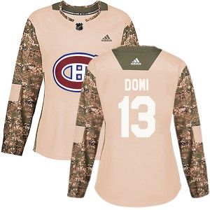 Montreal Canadiens Max Domi Official Camo Adidas Authentic Women's Veterans Day Practice NHL Hockey Jersey
